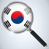 NSA USA Government Spy Program Country South Korea — Stockvector