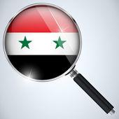 NSA USA Government Spy Program Country Syria — Stock Vector
