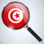 NSA USA Government Spy Program Country Tunisia — Stock Vector