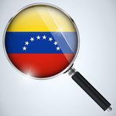 NSA USA Government Spy Program Country Venezuela — Stock Vector