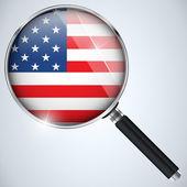 NSA USA Government Spy Program Country USA — Stock Vector