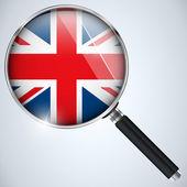NSA USA Government Spy Program Country UK — Stock Vector