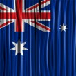 Australia Flag Wave Fabric Texture  — Vettoriali Stock