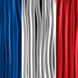 France Flag Wave Fabric Texture  — Stok Vektör