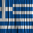 Greece Flag Wave Fabric Texture  — Stock Vector