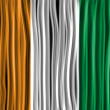Ireland Flag Wave Fabric Texture  — Imagen vectorial