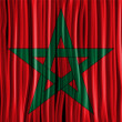 Morocco Flag Wave Fabric Texture  — Stock vektor