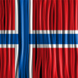 Norway Flag Wave Fabric Texture  — Vektorgrafik