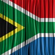 South Africa Flag Wave Fabric Texture  — ベクター素材ストック