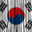 South Korea Flag Wave Fabric Texture  — Imagen vectorial