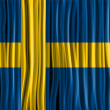 Sweden Flag Wave Fabric Texture  — Imagen vectorial