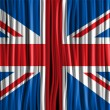 UK Flag Wave Fabric Texture  — Stok Vektör