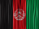 Afghanistan Flag Wave Fabric Texture — Stock Vector