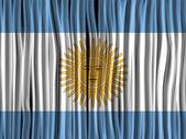 Argentina Flag Wave Fabric Texture — Stock Vector
