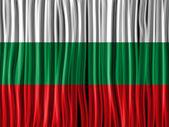 Bulgaria Flag Wave Fabric Texture — Stock Vector