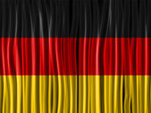 Germany Flag Wave Fabric Texture — Stock Vector