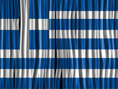 Greece Flag Wave Fabric Texture — Stock Vector