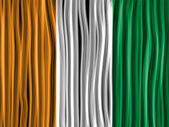 Ierland vlag golf stof textuur — Stockvector
