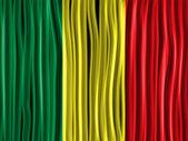 Mali Flag Wave Fabric Texture — Stock Vector