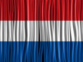 Netherlands Flag Wave Fabric Texture — Stock Vector