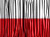Poland Flag Wave Fabric Texture — Stock Vector