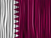 Qatar Flag Wave Fabric Texture — Stock Vector