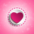 Valentine Day Love Heart  — Stockvectorbeeld