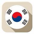 South Korea Flag Button Icon Modern — Stock Vector