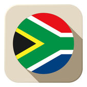 South Africa Flag Button Icon Modern — Stock Vector