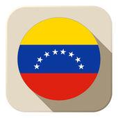 Venezuela Flag Button Icon Modern — Stock Vector