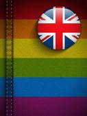 Gay Flag Jeans Fabric Texture UK — 图库矢量图片
