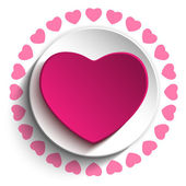 Valentine Day Love Heart Pink Background — Stock Vector