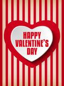 レトロな背景にバレンタインの日心 — ストックベクタ
