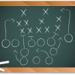 Teamwork Football Game Plan Strategy on Blackboard — Stock Vector #3918165