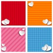 Stock Vector: Valentines Day Set of Four Web Banners
