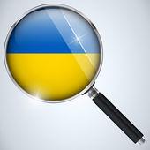 NSA USA Government Spy Program Ukraine — Stock Vector