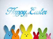 Mutlu Paskalya tavşanı tavşan renkleri — Stok Vektör