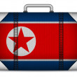 North Korea Travel Luggage with Flag for Vacation — Stock Vector #43203121