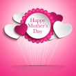 Happy Mother Day Heart Background — Stock Vector