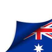 Australia Country Flag Turning Page — Stock Vector