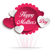 Happy Mother Day Heart Background — Wektor stockowy