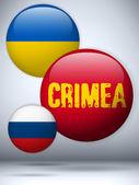 Ukrayna ve rusya'da çatışma — Stok Vektör