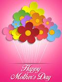šťastné matky den karta s květinami — Stock vektor