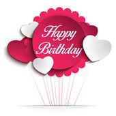 Cartão de feliz aniversário fundo colorido — Vetor de Stock