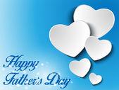 Sfondo cuore di padri felice giorno — Vettoriale Stock