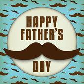Padre feliz día bigote amor — Vector de stock