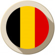 Belgium Flag Button Icon Modern — Stock Vector #47775603