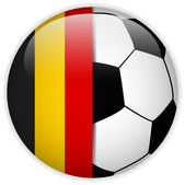Belgium Flag with Soccer Ball Background — Stock Vector