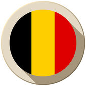 Belgium Flag Button Icon Modern — Stock Vector