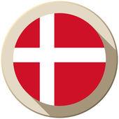 Denmark Flag Button Icon Modern — Stock Vector